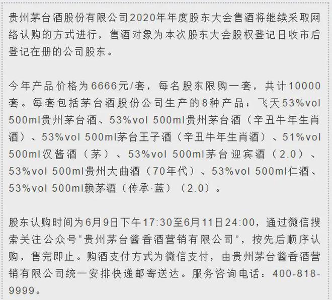 """6666,限量10000套!茅台股东大会的礼盒""""上新""""了"""