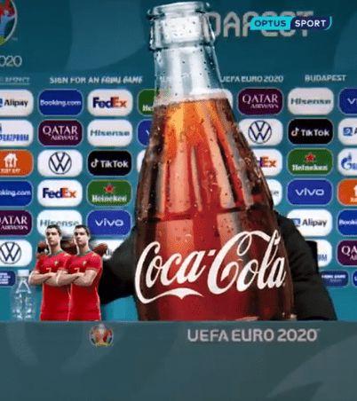 """可口可乐""""复仇""""?葡萄牙被淘汰后,""""C罗被可口可乐移走""""的视频疯传"""