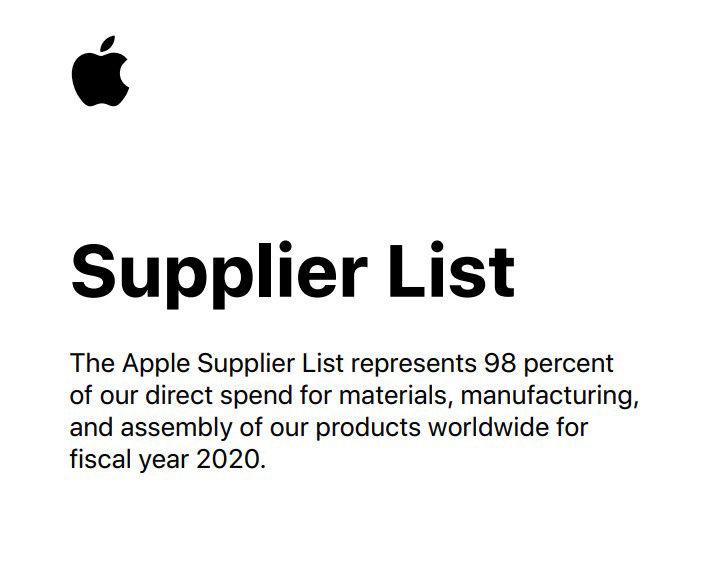 苹果公布200家供应链名单 中国大陆新增12家企业