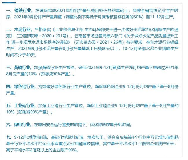 """云南:坚决遏制""""两高""""项目盲目发展 淘汰退出一批低效落后产能"""