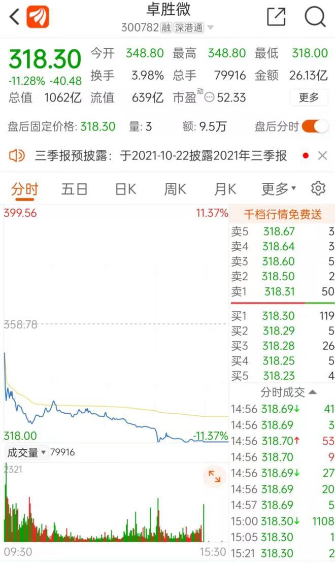 """蔡嵩松""""爱股""""大跌11%!芯片巨头波及800多只基金 券商:买入"""
